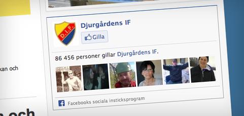 Ny funktion: Klubbens Facebook Like Box