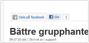 """Mer trafik till er sajt med Facebook """"Like-knapp"""""""