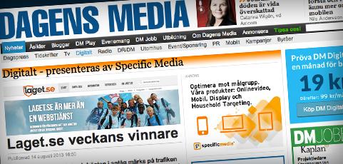 laget.se ökar mest i Sverige!