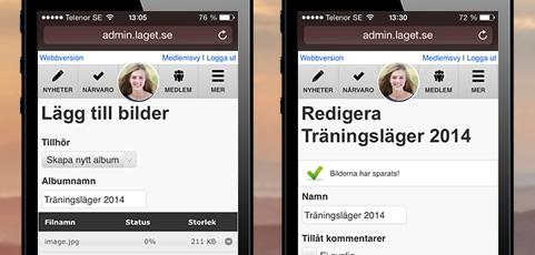 Nu: Riktigt enkelt att ladda upp bilder direkt från mobilen!