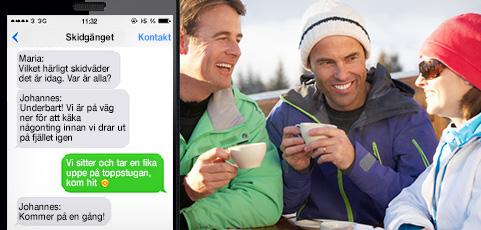 SMS-grupper fungerar perfekt även utanför lagsporten!