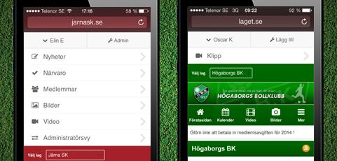 Förenklad navigering i mobilen!