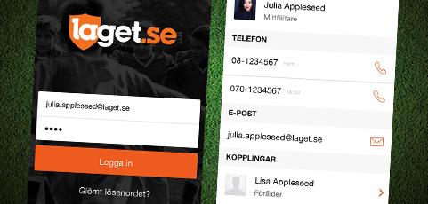 Första versionen av laget.se-appen finns nu för iPhone och Android!