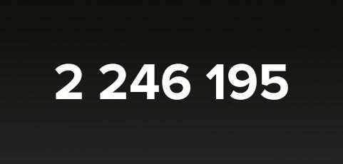 Fantastiska 2 246 195 unika besökare i september – Tack alla användare!