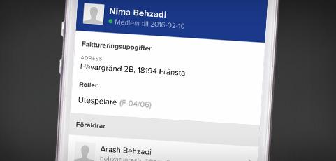 Nyhet: Faktura- och medlemsstatus via laget.se-appen och dator!