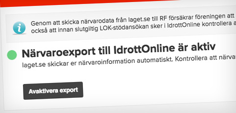 Guide: Skicka närvarodata automatiskt till IdrottOnline!