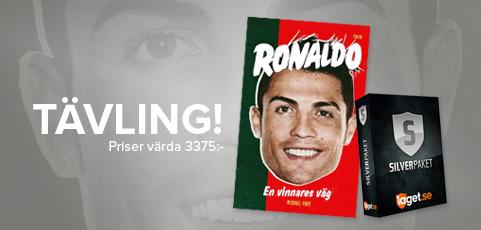 Köp silverpaket till ditt lag och tävla om Ronaldo-böcker