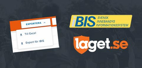 iBIS-anpassad exportfunktion finns nu i ert medlemsregister
