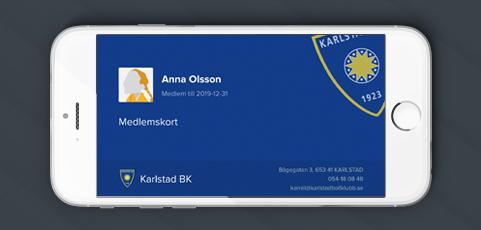 Nu syns ditt barns digitala medlemskort i laget.se-appen