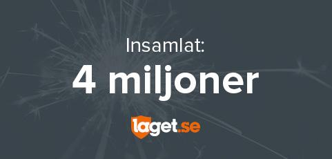 Sveriges idrottsföreningar har nu samlat in över 4 miljoner